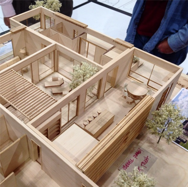 model of a modular home designed by rockwell group at dwell on design