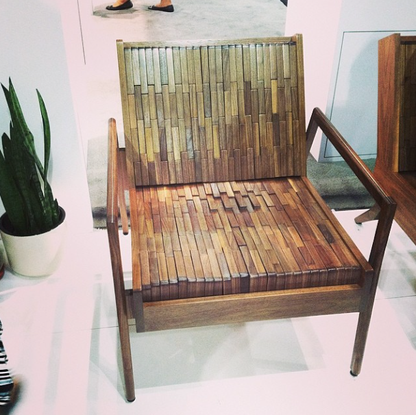 wooden panel chair at dwell on design
