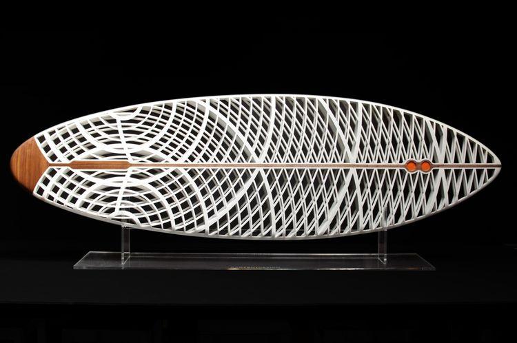Karten Design 3-D printed surfboard
