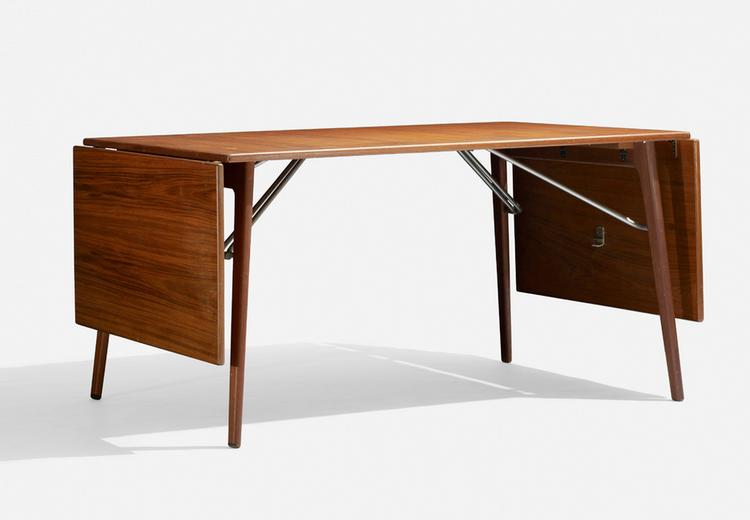 Danish designer Børge Mogensen teak dining table at Wright modern design auction.