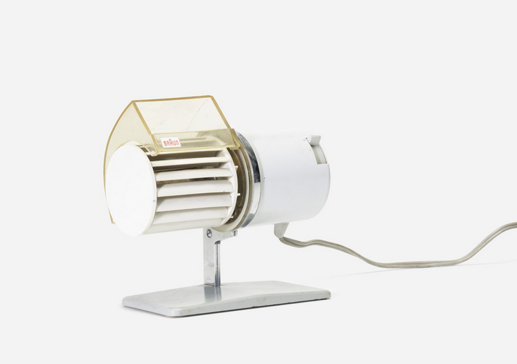 Wright 20th century design auction includes Dieters Rams desk fan for Braun