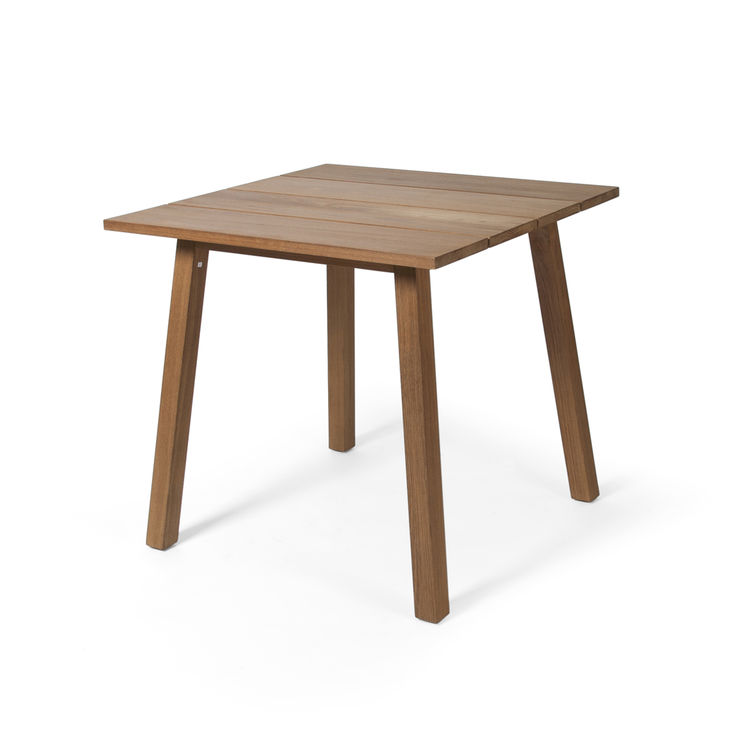 Teak dining table for outdoor and indoor settings that can sit two to four guests