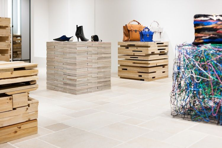 A pop-up store made from discarded materials in Tokyo