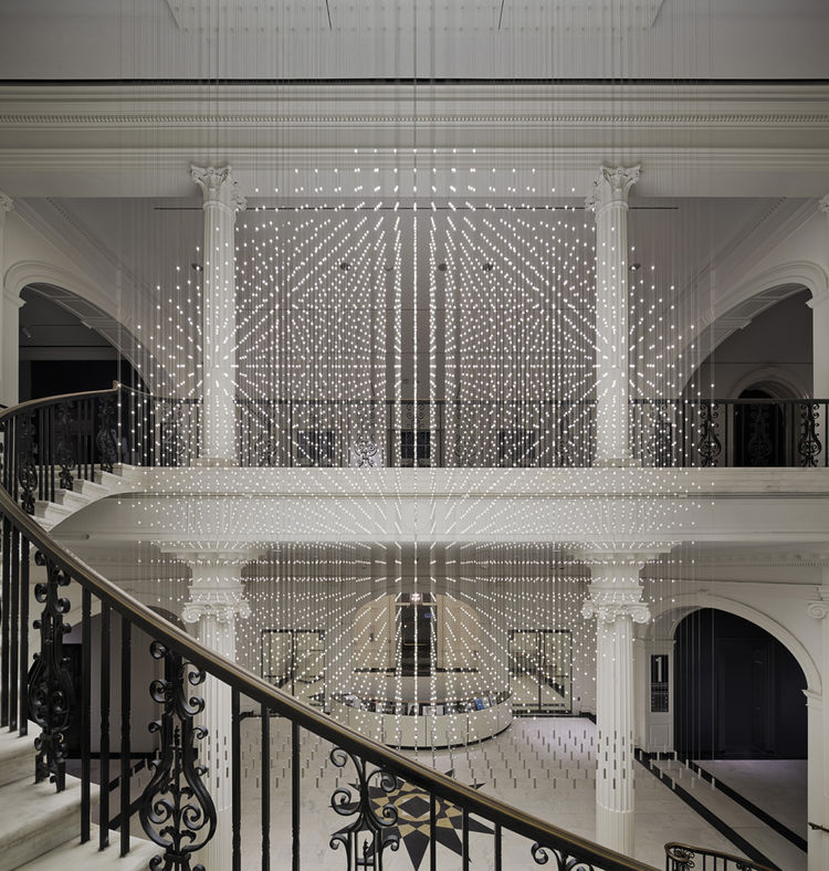 Starlight is a lighting installation at the Museum of the City of New York by Cooper Joseph Studio.