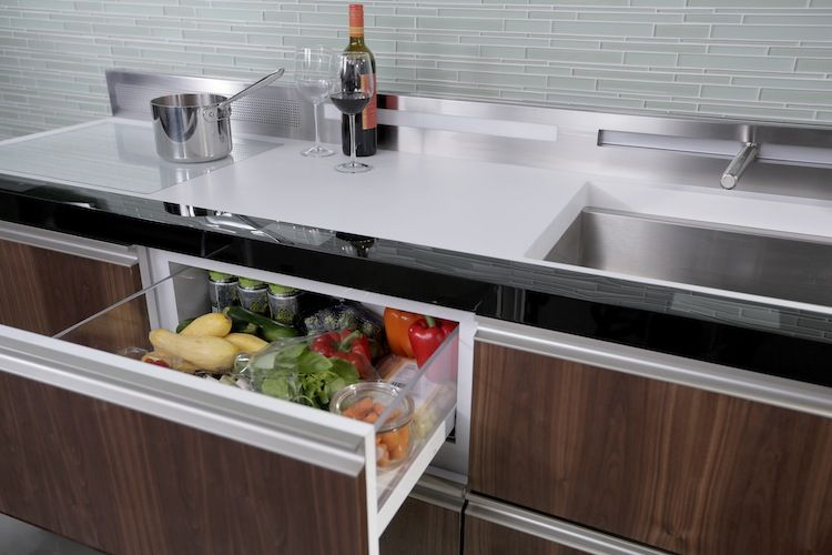 A rendering of the new GE Micro Kitchen system for small urban spaces