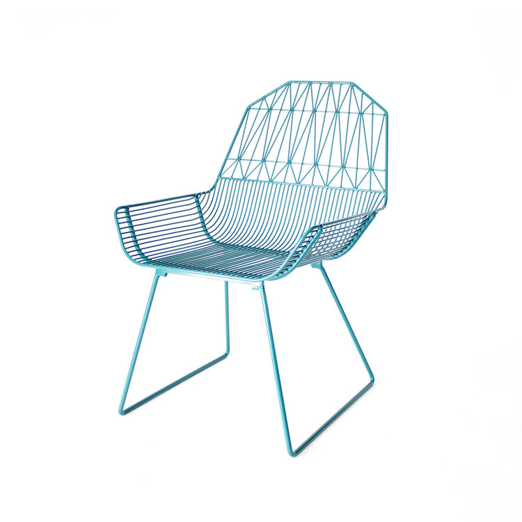 Powder-coated steel indoor and outdoor lounge chair