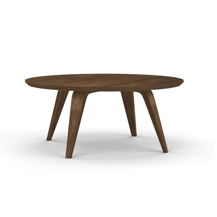 Cherner round wooden coffee table from the Dwell Store