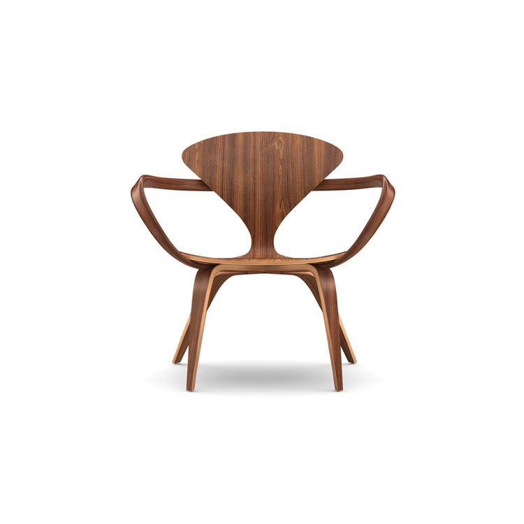 Rich walnut chair inspired by original midcentury design