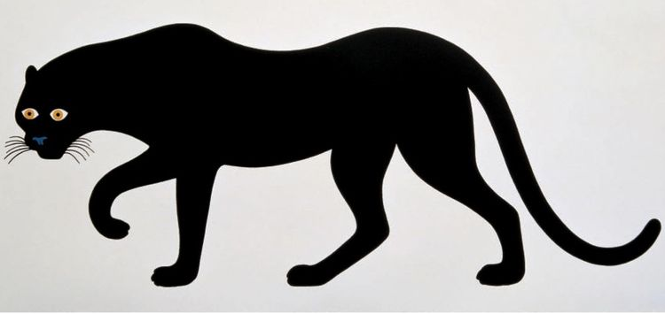 Black-and-white panther print by Enzo Mari