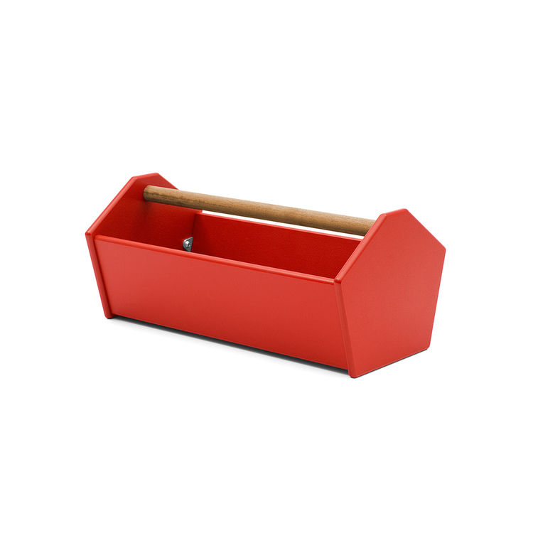 Planter and tote made of recycled material with wood handle