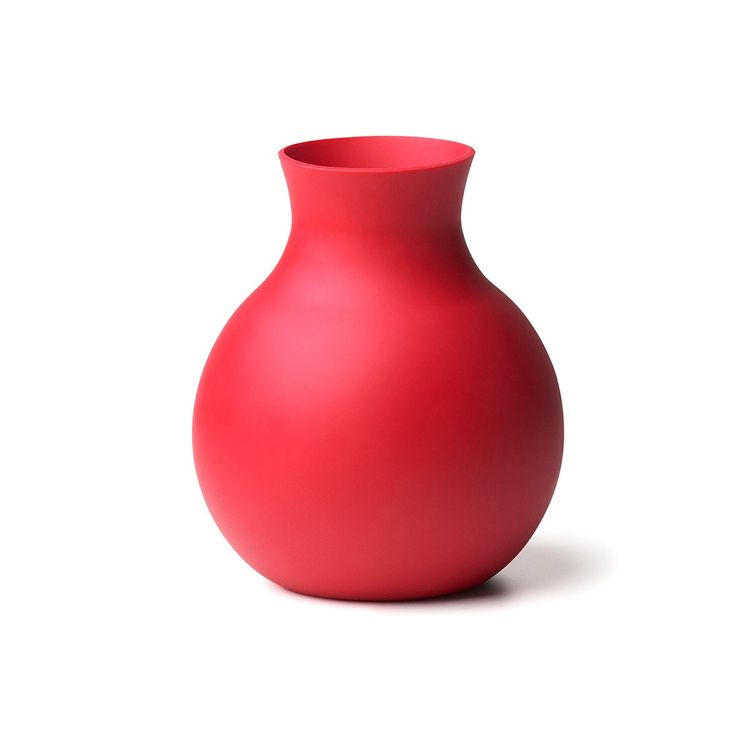 Red rubber vase from the Dwell Store