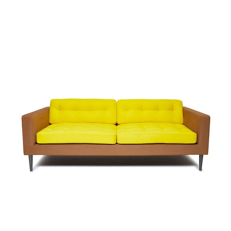 Bright yellow sofa from the Dwell Store