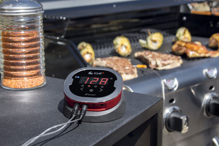 iGrill2 meat probe linked to assorted meats