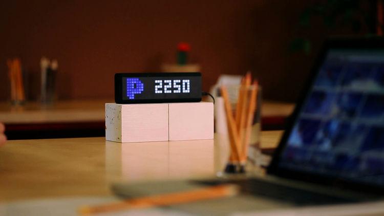 LaMetric notification center display paypal