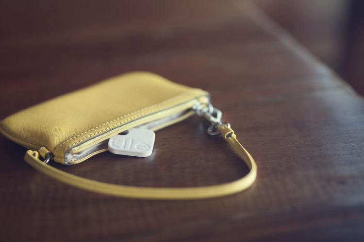 Tile transponder inside purse