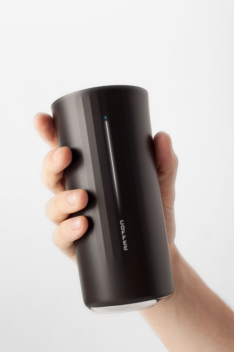 Vessyl fitness tracker mug in hand