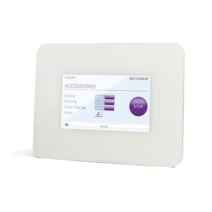 Touch screen shower control panel