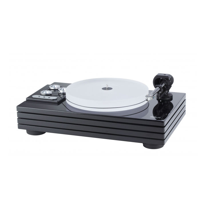 Modern white and black record player