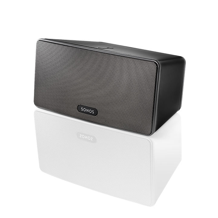 Wireless rectangular speaker in black