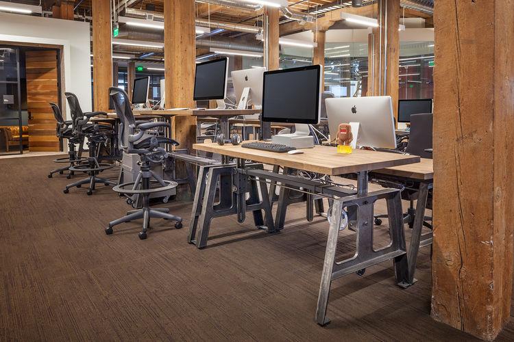 Mash Studios industrial table office