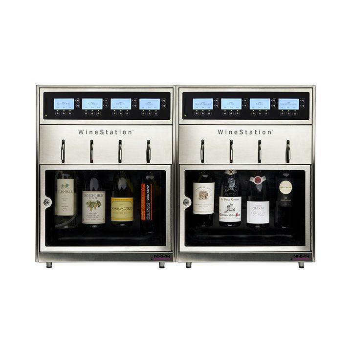 Silver wine dispenser
