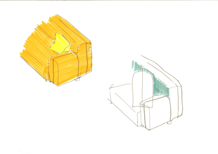 Barber Osgerby for Knoll sofa sketches