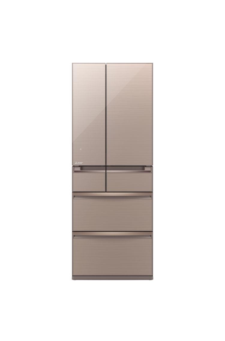 Mitsubishi supercooling refrigerator in beige.