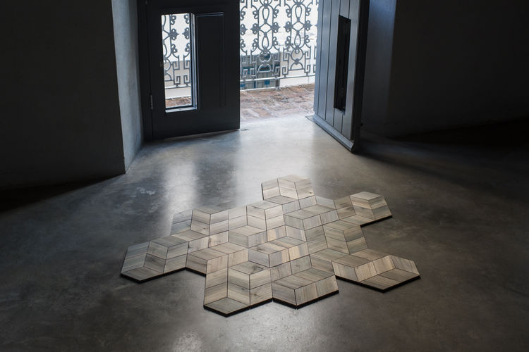 La Mantilla wooden tessellated floor treatment.