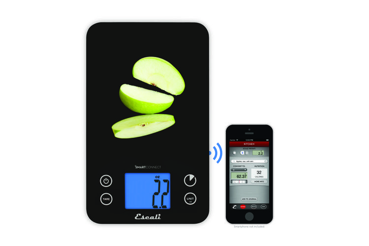 Escali kitchen scale connected to app.