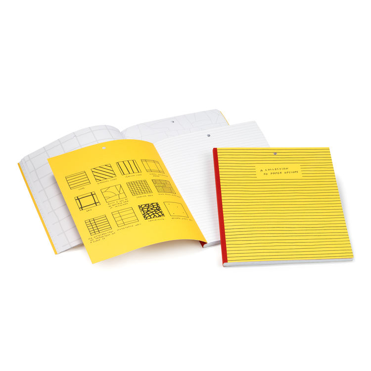 Plumb paper options notebook yellow.