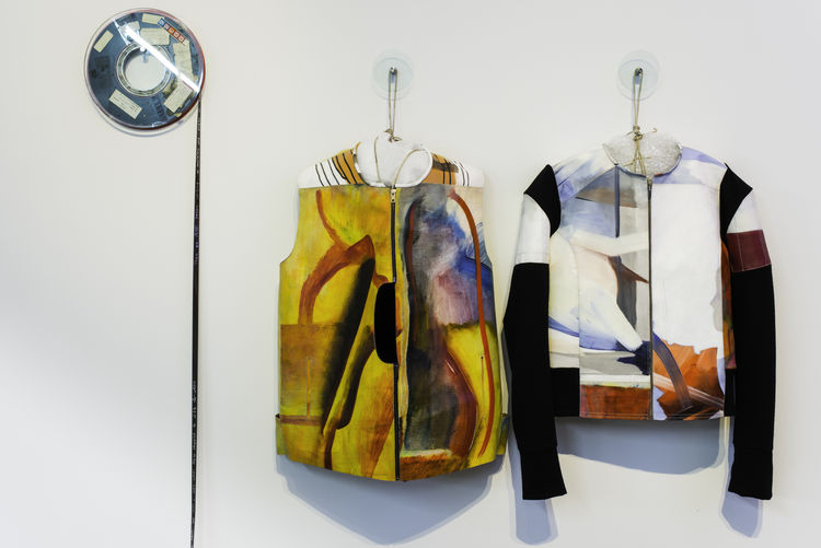 Motorcycle jackets made from disclaimed paintings