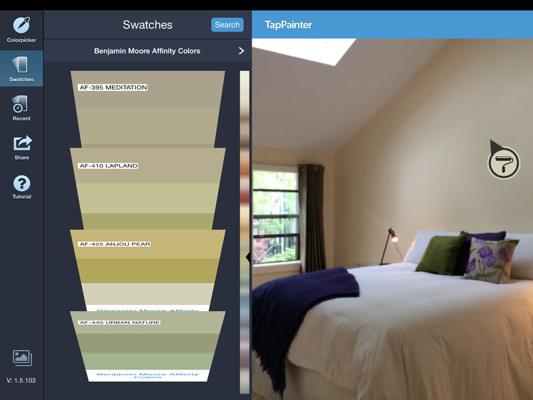 TapPainter app with color swatches.