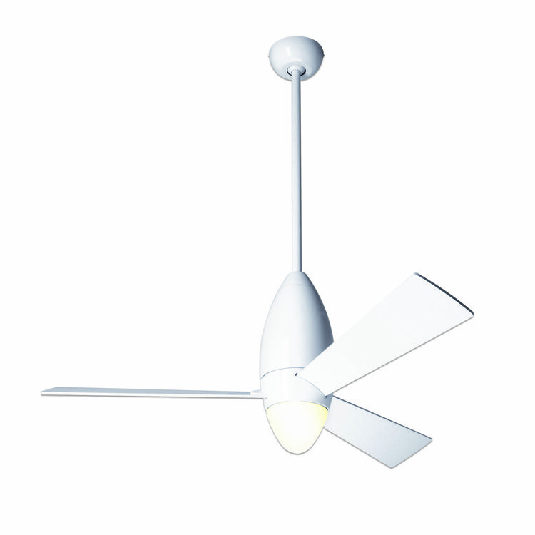 Slim bullet-shaped ceiling fan