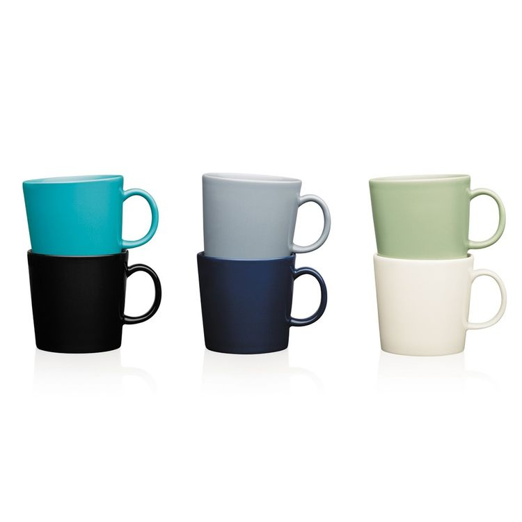 Matte solid colored mugs