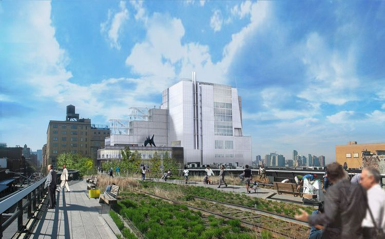 Rendering of the Whitney Museum on the High Line in NYC