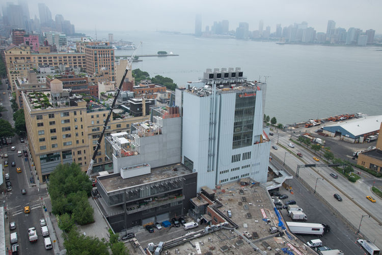 Back of the Whitney Museum facing the Hudson River