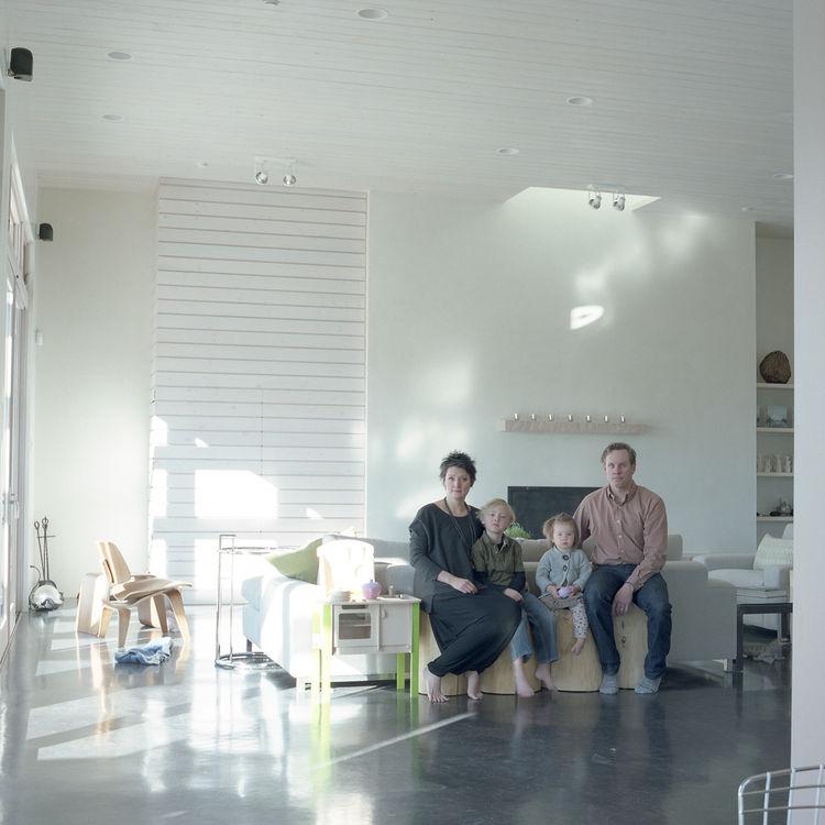 Santa Fe modern family home with high ceilings