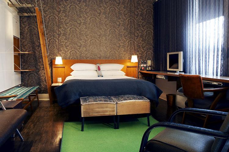 Drake Hotel room interior.