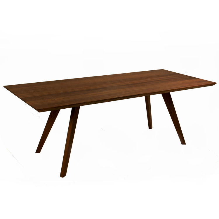 elegant dining table with splayed legs