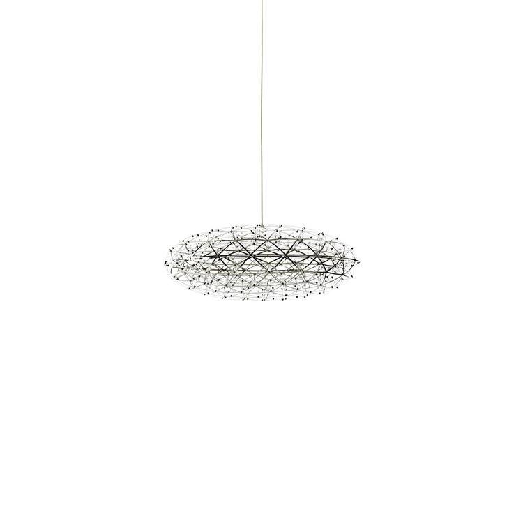 geometric saucer-shaped pendant light