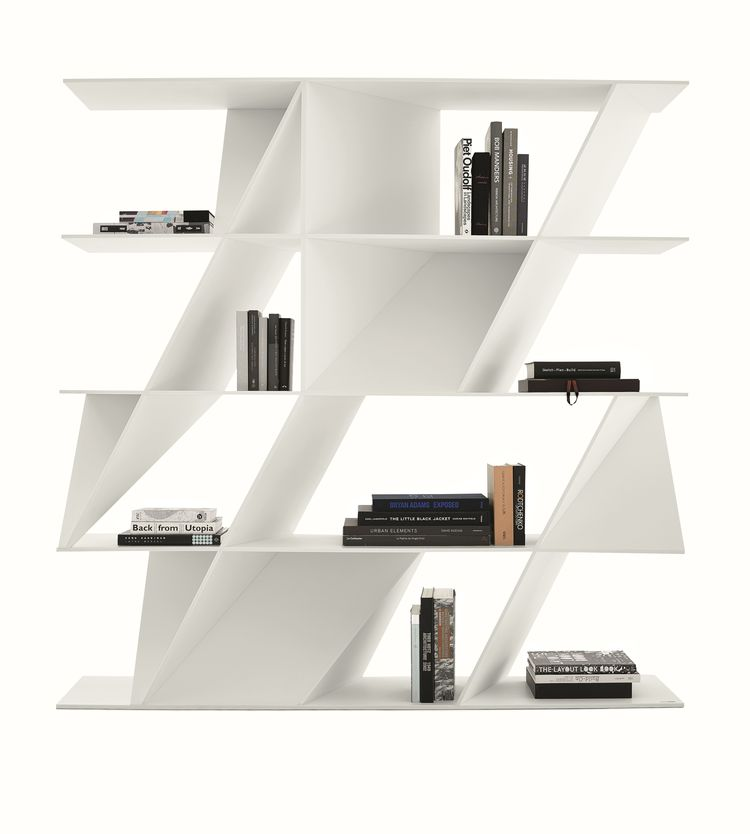 White web bookcase by Daniel Libeskind for Poliform