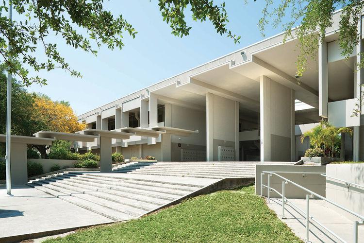White high school design with open hallways in Sarasota