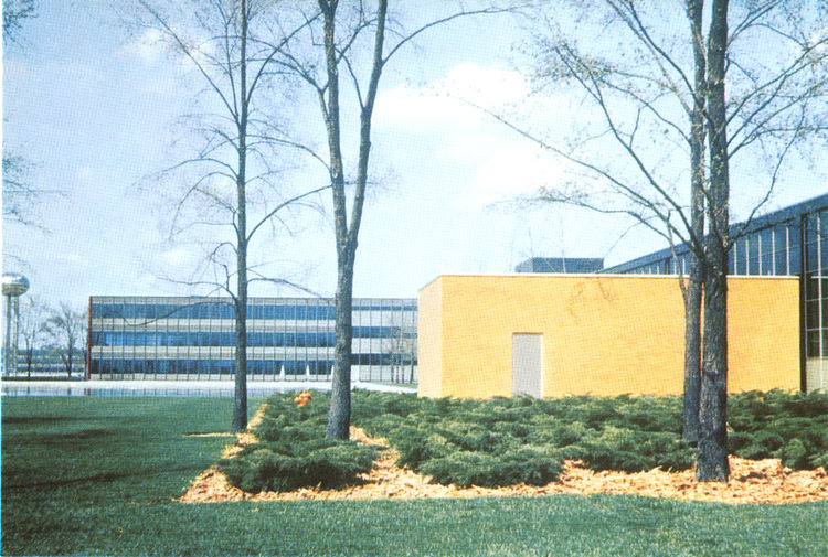 General Motors Technical Center with steel, aluminum, glass