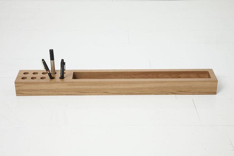 Oak desk organizer