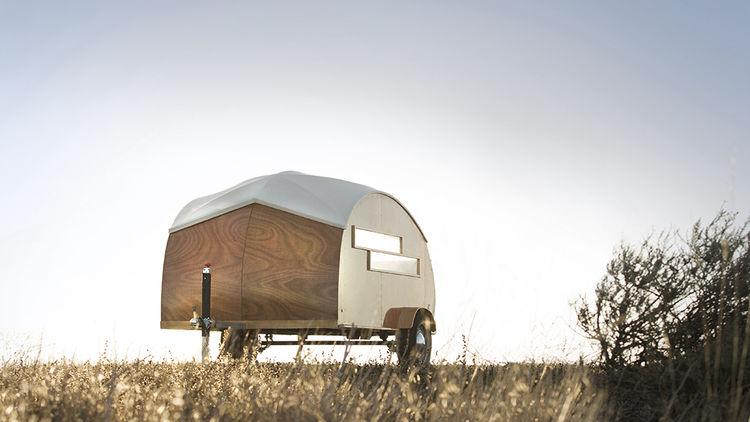 Hutte Hut prefab trailer exterior