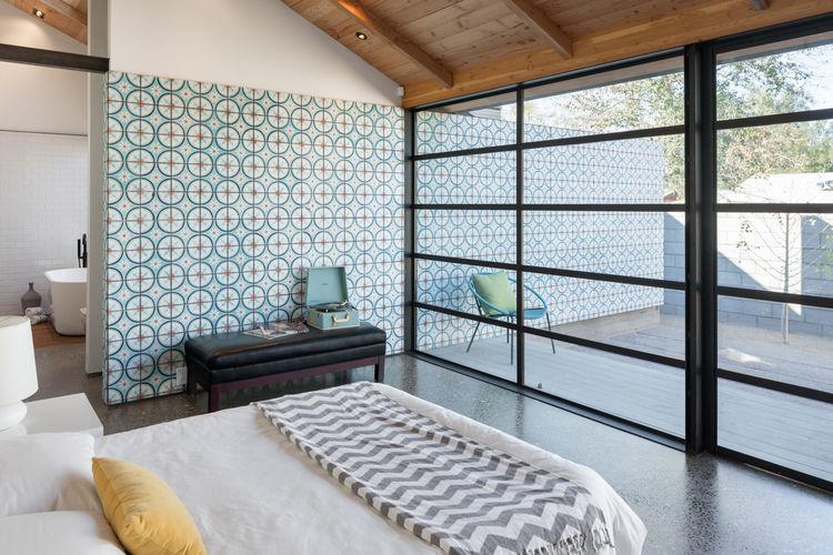 Master Bedroom in Phoenix Industrial Bungalow