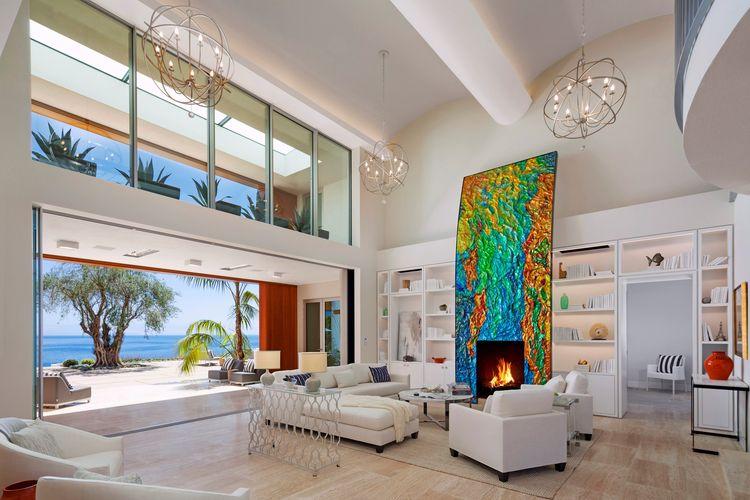 A contemporary home in the Hope Ranch neighborhood of Santa Barbara, California.