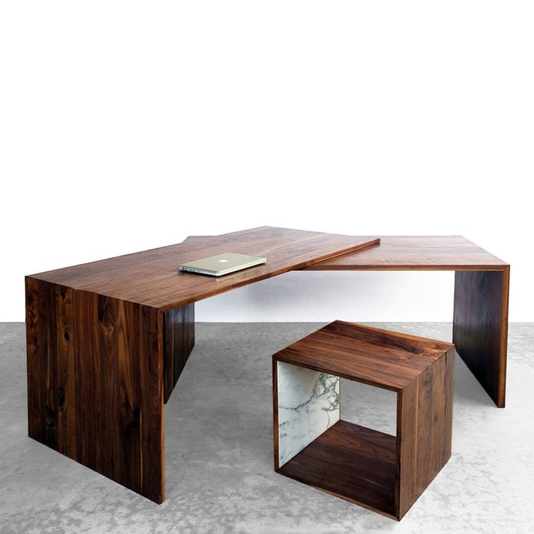 Extending walnut table or desk