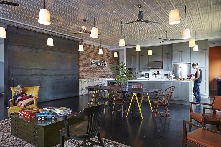moden auburn bragg house kitchen living dining area