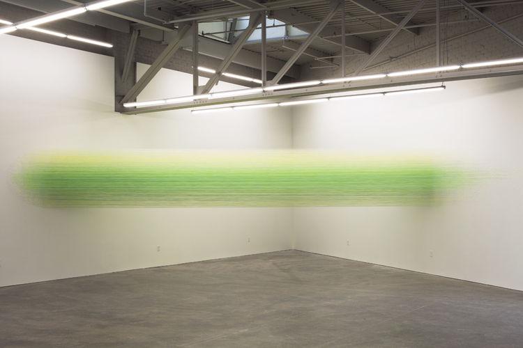 Artist Anne Lindberg egyption cotton thread art installation